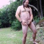 Stroking outdoors, love feeling the wind on my balls.