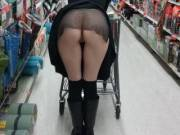 Doing some panty-less shopping