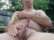 I was feeling horny and it was a nice evening so why not masturbate out in the back yard.