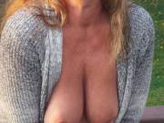23° degrees outside! I've got goose bumps on my Areolas! Can you see em :) Brrrr! You like?
