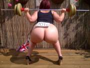 Trying to build my butt muscles. I'd like to make naked weightlifting an Olympic sport, what do you think?