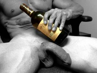Have my cock and a bottle. Any takers???