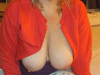 breasts of sexy wife