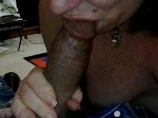 Wife just loves sucking pre cum and waiting for the big load to follow!