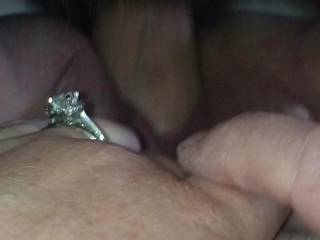 My wife getting fucked hard by her Dr friend that wedding ring does not stop her lol!!