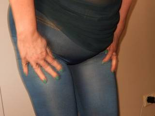 Wife try on her tights.....