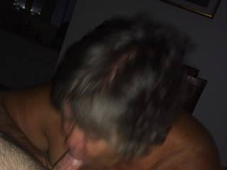 My wife watched as an older friend sucked my cock!