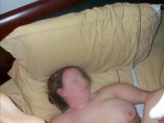 My chubby wife's dirty feet in the air while I plug her wet fuck hole with my dick.