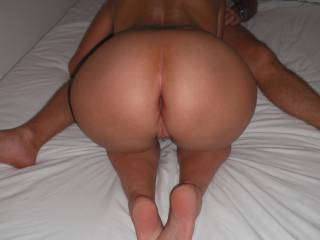 Sucking our swinger friend's lovely thick cock, when he came around for a threesome.
