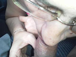 Me sucking a cock several years ago....Yes it is small but I gave him one hell of a blowjob....Nothing like sucking a cock in a car in a parking lot at a store.....