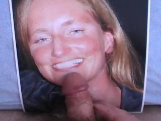 My cock on hamfmer's slut of an ex-girlfrineds face!
