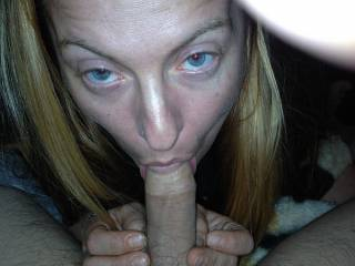 Love sucking my husband's cock... any ladies want to share it with me?