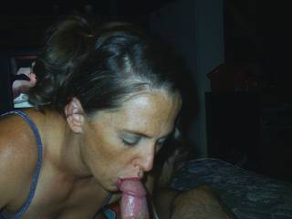 pretty girl doing her thing . She loves sucking my cock. can you guess why?