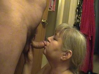 Sexy mature wife blowing my cock. Get your cock out, she ready. Are you?