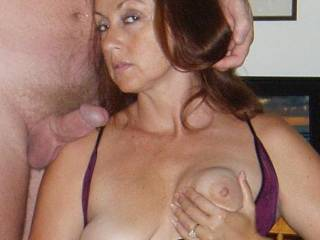Candi poses with her favorite cock!