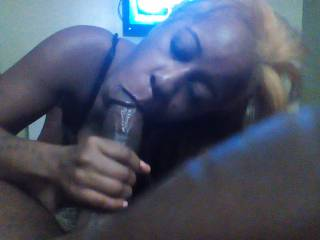 Loved the concentration and focus while sucking my cock! She is amazing!!!