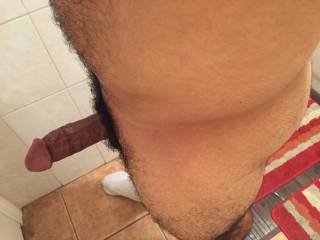 Could use a beautiful woman caressing my thigh while sucking my cock about now. Any volunteers?