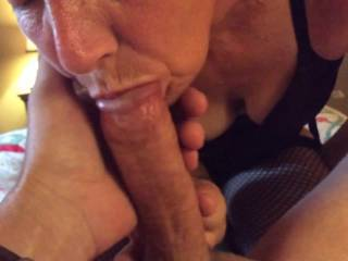 Wife never gets tired of sucking my cock. Lucky me!